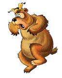 Bear pattern cartoon, folklore Stock Images