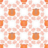 Bear pattern Stock Images