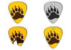 Bear Pawn Concept Pick Guitar Stock Image