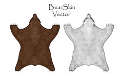 Bear pelt. Big brown and White . Hunting trophy. Vector illustration Top View. Bear pelt. Big brown and White Bear. Hunting trophy. Vector illustration Top View Stock Images