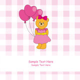 Bear with a pink dress Royalty Free Stock Photography