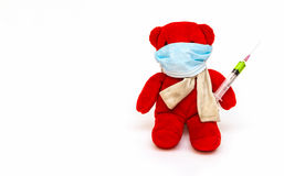 Bear playing a doctor. royalty free stock images