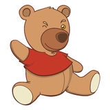 Bear plush. Smiling bear plush saying hello Royalty Free Illustration