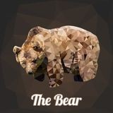 Bear Polygon Vector. A illustration Polygon Vector or Low Poly Vector cool full body bear with background Stock Photo