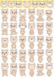 Bear Icon Set_eps Stock Images