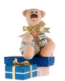Bear and presents Royalty Free Stock Images