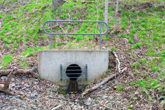 A bear proof drainage ditch Royalty Free Stock Image