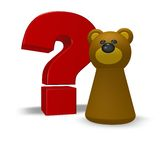 Bear question Royalty Free Stock Photos