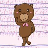 Bear question seamless pattern Royalty Free Stock Photography