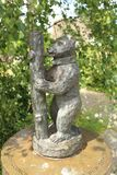 The Bear and Ragged Staff, the symbol of Warwickshire. A statue of the bear and ragged staff, the symbol of Shakespeare`s county of Warwickshire in England Stock Photography