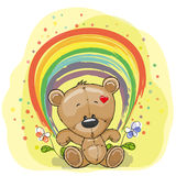 Bear with rainbow Stock Image