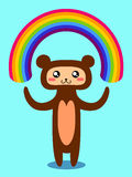 Bear and rainbow. Stock Photo