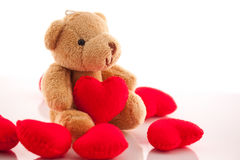 Bear with a  red heart Royalty Free Stock Photo