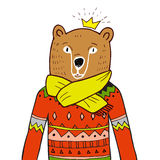 Bear in red sweater. Stock Image