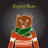 Bear in red sweater. Royalty Free Stock Photo