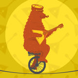 Bear riding a motorcycle Royalty Free Stock Photos