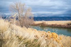 Bear River During an Autumn Storm royalty free stock image