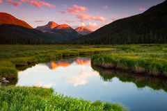 Bear River in the Uinta mountains. Amazing Uinta Mountains, Utah, USA Stock Photography