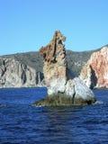 Bear Rock. Bear-like rock off the island of Milos, Cyclades, Greece Royalty Free Stock Photography