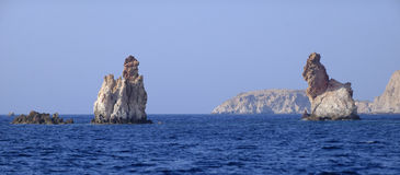 Bear rock formations of Milos Royalty Free Stock Image