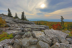 Bear Rocks Dolly Sods West Virginia. Sunries on Mountain top at Bear Rocks Dolly Sods, WV Royalty Free Stock Photo