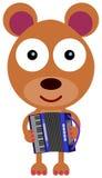 Bear's accordion Stock Photography