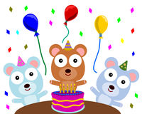 Bear's birthday party Royalty Free Stock Photos