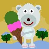 Bear's ice cream Royalty Free Stock Image