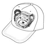 Bear's smiling snout logo on the cap Royalty Free Stock Photos
