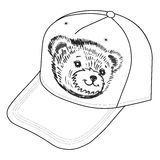 Bear's smiling snout logo on the cap Stock Photography