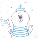 Bear sailor Stock Photography