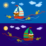 Bear sailor Stock Photos