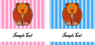 Bear sample text Royalty Free Stock Photography