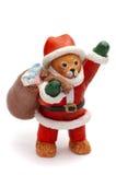 Bear Santa stock photo
