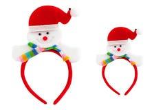 Bear santa headband isolated on white background. Royalty Free Stock Photography