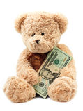 Bear saving money Royalty Free Stock Image