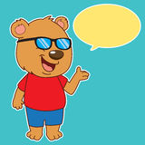 Bear Say. Bear Said,talkink baer,speech bubble,cartoon character Stock Photo