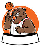 Bear school basketball mascot Stock Image