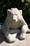 Bear sculpture Stock Images