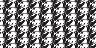 Bear seamless pattern vector panda polar bear isolated background wallpaper illustration cartoon doodle vector illustration