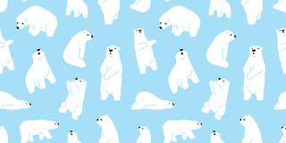 Bear seamless polar bear vector pattern teddy icon character cartoon doodle illustration tile background wallpaper vector illustration