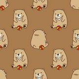 Bear Seamless vector Polar Bear Pattern play Ball wallpaper isolated background brown vector illustration