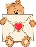 Bear Secure Envelope Heart Stock Photography