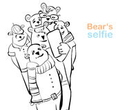 Bear selfie. many bears do self photo. Stock Images
