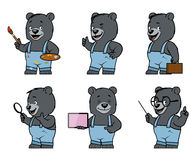 Bear. Set of bear characters in different poses Royalty Free Stock Photo