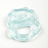 Bear shape silicone teether for babies  on white background Stock Images