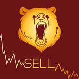 Bear short selling Stock Image