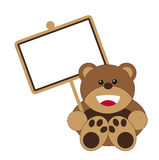 Bear with Sign Royalty Free Stock Photo