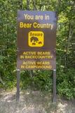 Bear Sign Stock Photo