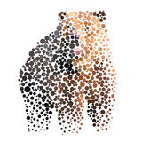 Bear silhouette consisting of  circle. Royalty Free Stock Photos